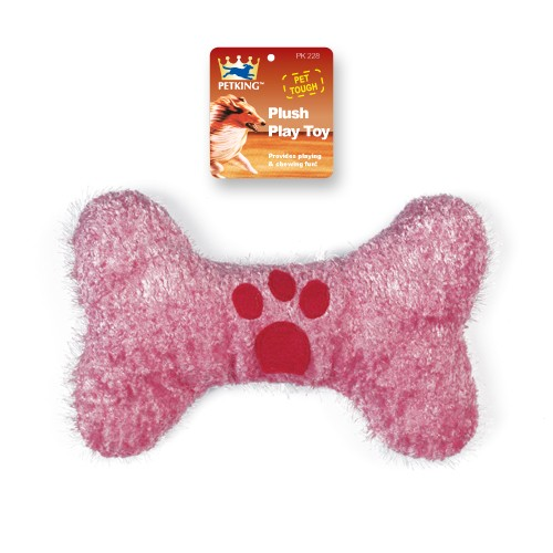 Chenille Applique Bone Chew Toy